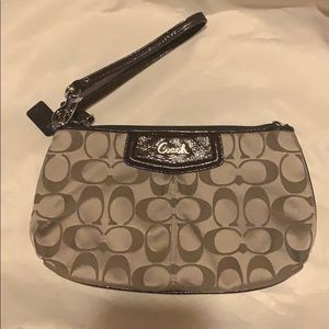 Coach logo clutch